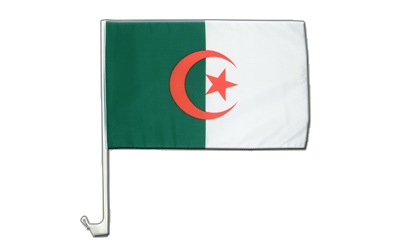 Algeria Car Flag 12x16""