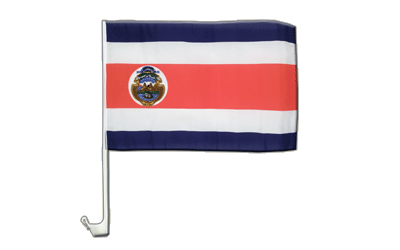 Costa Rica Car Flag 12x16""