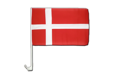 Denmark Car Flag 12x16""