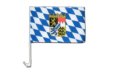 Bavaria with crest - Car Flag 12x16""