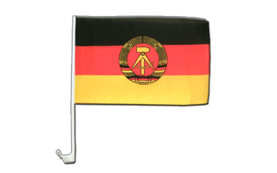 GDR Car Flag 12x16""