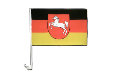 Lower Saxony Car Flag 12x16""
