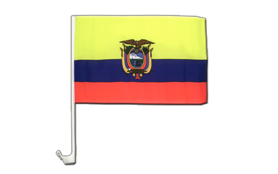 Ecuador Car Flag 12x16""