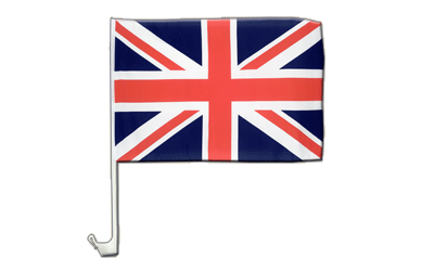 Great Britain Car Flag 12x16""