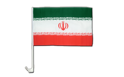 Iran - Car Flag 12x16""