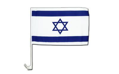 Israel Car Flag 12x16""
