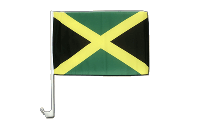 Jamaica Car Flag 12x16""