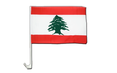 Lebanon Car Flag 12x16""