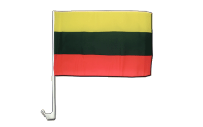 Lithuania Car Flag 12x16""