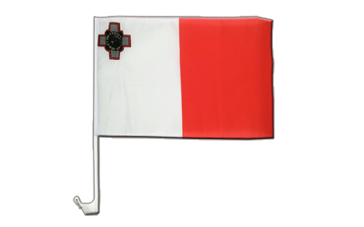 Malta Car Flag 12x16""
