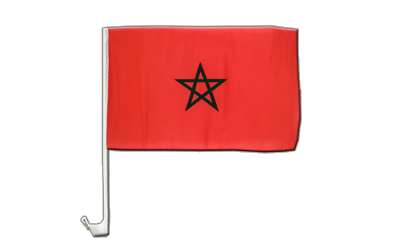 Morocco Car Flag 12x16""