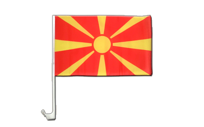 Macedonia - Car Flag 12x16""