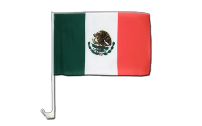 Mexico Car Flag 12x16""