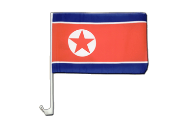 North corea Car Flag 12x16""
