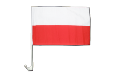 Poland Car Flag 12x16""
