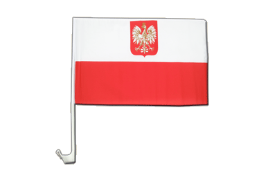 Poland with eagle - Car Flag 12x16""