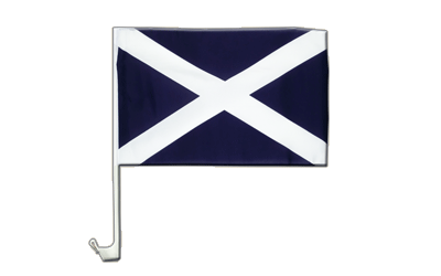 Scotland navy Car Flag 12x16""