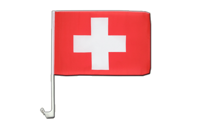 Switzerland Car Flag 12x16""