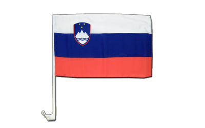Slovenia Car Flag 12x16""
