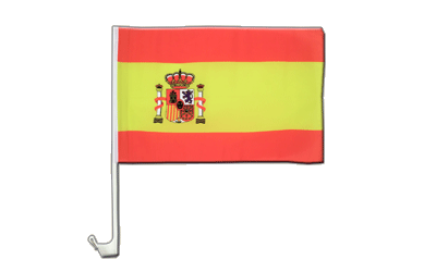 Spain with crest Car Flag 12x16""
