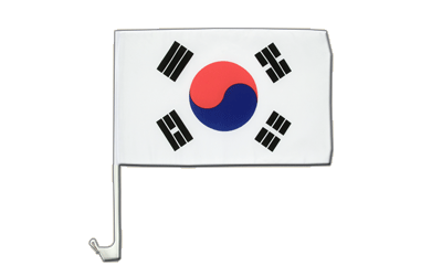 South Korea - Car Flag 12x16""