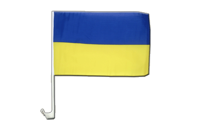Ukraine - Car Flag 12x16""