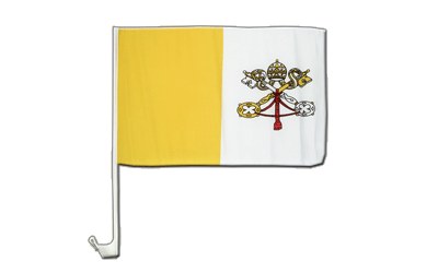 Vatican Car Flag 12x16""