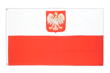 Poland with eagle - 5x8 ft Flag