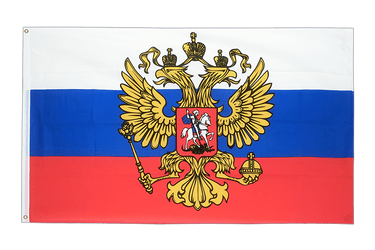 Russia with crest 5x8 ft Flag
