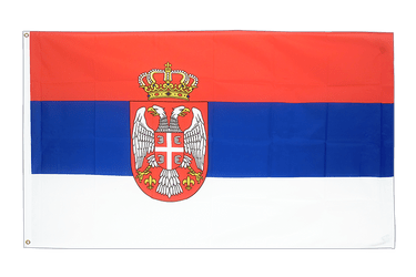 Serbia with crest 5x8 ft Flag
