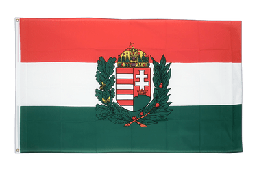 Hungary with crest - 5x8 ft Flag