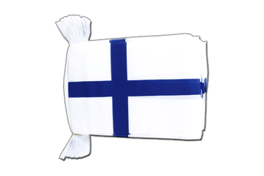 "Finland Flag Bunting 6x9"", 9 m"