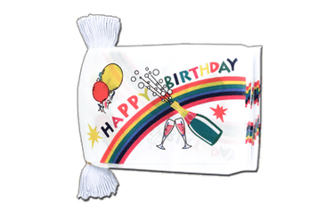 Guirlande fanion Happy Birthday - 15 x 22 cm