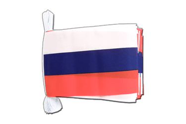 "Russia Flag Bunting 6x9"", 9 m"