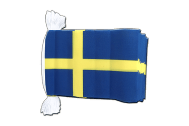 "Sweden Flag Bunting 6x9"", 9 m"
