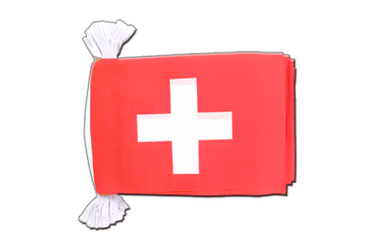 "Switzerland Flag Bunting 6x9"", 9 m"