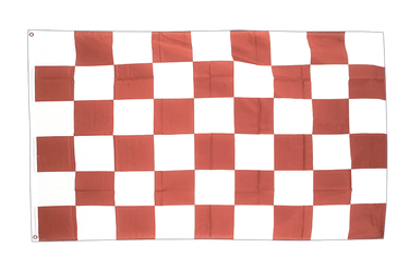Checkered Brown-White - 3x5 ft Flag