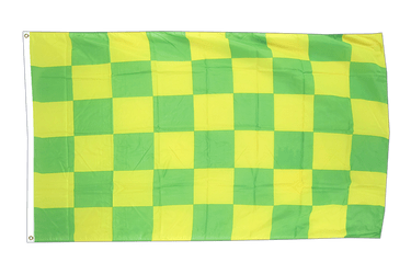 Checkered Green-Yellow 3x5 ft Flag