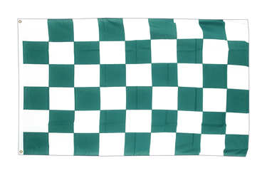 Checkered Green-White