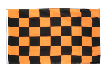 Damier Noir-Orange