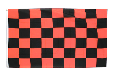 Checkered Black-Red 3x5 ft Flag