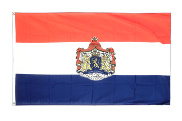 Netherlands with crest - 3x5 ft Flag
