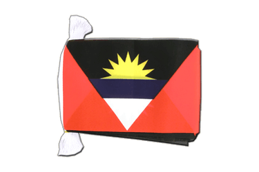 "Antigua and Barbuda Flag Bunting 6x9"", 9 m"