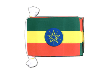 "Ethiopia with star Flag Bunting 6x9"", 9 m"