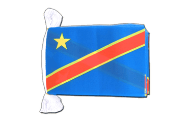 Democratic Republic of the Congo Flag Bunting 6x9""