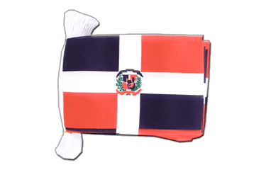 "Dominican Republic Flag Bunting 6x9"", 9 m"