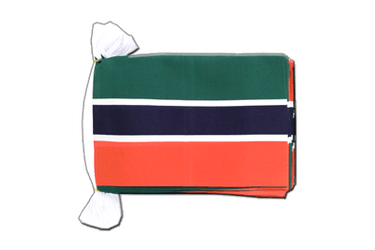 "Gambia Flag Bunting 6x9"", 9 m"