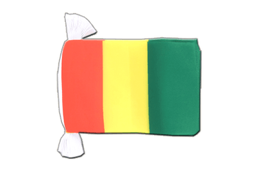 "Guinea Flag Bunting 6x9"", 9 m"