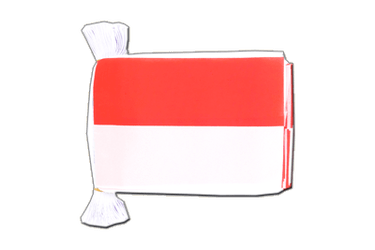 "Indonesia Flag Bunting 6x9"", 9 m"