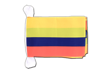 "Colombia Flag Bunting 6x9"", 9 m"